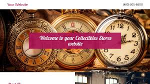 collectibles stores website templates godaddy