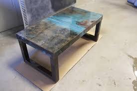 sheet metal coffee table chic steel coffee table reclaimed modern steel coffee table coffee