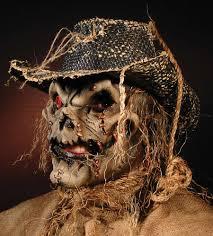 Scarecrow Mask Scarecrow Latex Appliance Halloween Mask