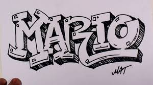 cool drawing designs names graffiti writing mario name design 38 in