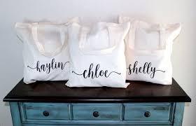 bridal party tote bags bridesmaid tote bridesmaid gift idea bridesmaid idea