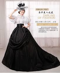 cbell wedding dress black court white ruffled butterfly sleeve gown