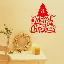 popular red wall letters buy cheap red wall letters lots from free shipping new red letters xmas tree merry christmas decorative wall sticker wall decal diy art
