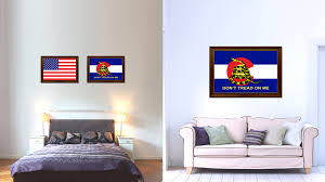 gadsden don t tread on me colorado state military flag patriotic gadsden don t tread on me colorado state military flag canvas print with brown picture