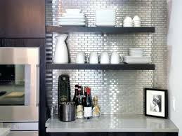 temporary kitchen backsplash stainless steel kitchen backsplash black white and stainless steel