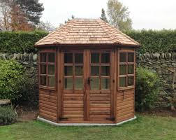 Summer Garden Houses - dark brown summer house jpg