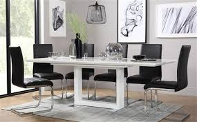 Black Extending Dining Table And Chairs Dining Table 8 Chairs Furniture Choice