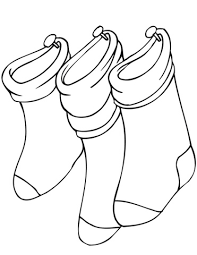 hanging christmas stockings coloring free printable