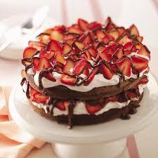 chocolate strawberry chocolate strawberry torte recipe taste of home