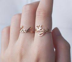 day rings personalized custom name ring personalized name ring your name on ring