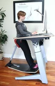 desk mobile adjustable height stand up desk with monitor mount