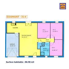 plan maison une chambre plan maison plain pied 3 chambres plan maison plan