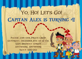 jake neverland pirates birthday invitation