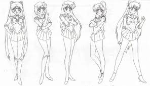 sailor scouts colouring pages gekimoe u2022 104215