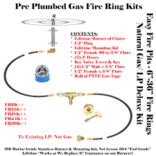 Gas Firepit Kit Pit Burner Pan Gas Kit Replacements Replacement Parts