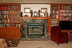 Building Wood Bookcases by What To Do With These Wooden Built In Bookcases