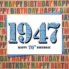 happy 70th birthday male mens year of birth fac folksy