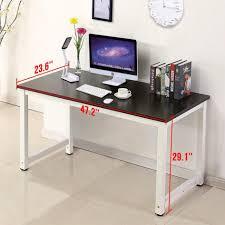 Workstation Computer Desk 28 Inch Wide Computer Desk Compact Computer Tables For Home Black