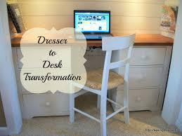 half closet half desk dresser to desk
