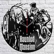 haunted mansion home decor haunted mansion vinyl record wall clock fan art home decor original