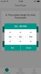 android timepicker ionictimepicker ionic marketplace
