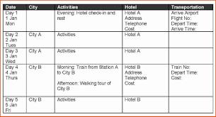 travel calendar template