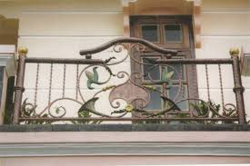 wrought iron balcony railings designs with ornament home