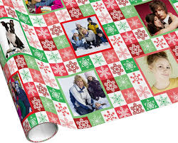 custom christmas wrapping paper christmas snowflake checks fashioned gingham style wrapping