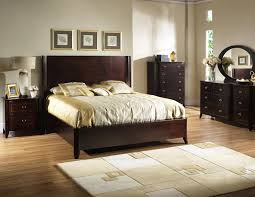 King Of Floors Laminate Flooring Rectangle Dark Brown Wooden Headboard With Brown Wooden Bed On