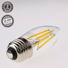 4 5w ul listed dimmable led filament candelabra bulb vintage style