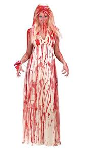 Peach Halloween Costume Amazon Gth Women U0027s Carrie Prom Nightmare Bloody Fancy