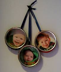 make photo tin ornaments dollar store crafts