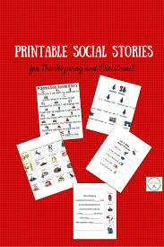 printable social stories for christmas and thanksgiving for kids