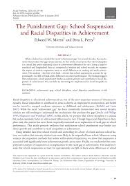 the punishment gap suspension and racial disparities in