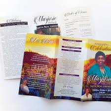 where to print funeral programs funeral programs a plus print shop