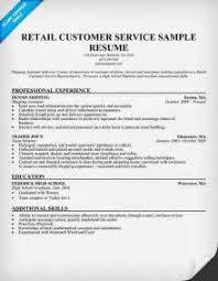 Resume Example Retail by Cashier Customer Service Resume Samples Visualcv Resume Samples
