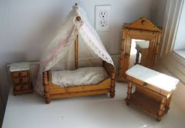 Vintage Bamboo Chairs Antique Doll Toy Miniature Furniture French Faux Bamboo Bedroom