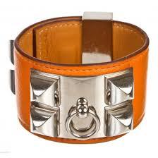 hermes bracelet leather images Hermes leather collier de chien bracelet van cleef arpels jpg
