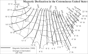 magnetic declination map exercise 4 e compasses and direction