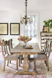 rustic java greyson fixed dining table brown wood large over