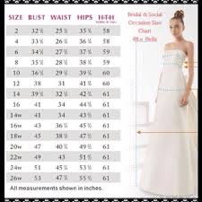 size chart for wedding dresses wedding dress size chart gown and dress gallery