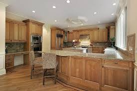 kitchen with light wood cabinets light oak kitchen cabinets awesome with wood and ceiling lighting