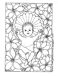 poinsettia coloring pages baby jesus christmas cards and coloring pages