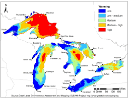 Maps Of Michigan New Great Lakes Map Highlights Environmental Threats And