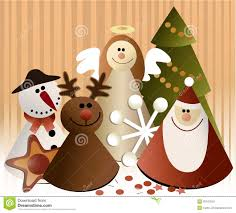 christmas paper decorations stock photography image 35197842