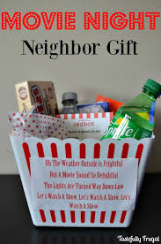 movie night neighbor gift tastefully frugal all things