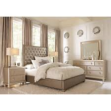 silver bed sofia vergara paris silver 7 pc king upholstered bedroom king
