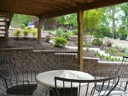 retaining wall and patio under deck hardscapes pinterest