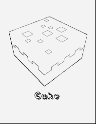 fantastic minecraft cake coloring pages with coloring pages of