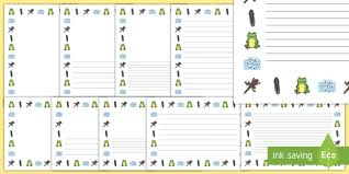 tadpole diary writing template frog life cycle minibeast